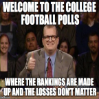 Who cares about college football rankings now that it's official?